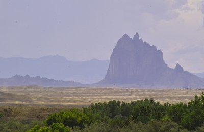 View of Shiprock Just Before Heading to Colorado