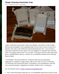 Homemade soap review